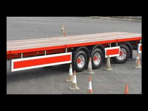 Longer Semi Trailer - Only Longer Trailer in UK undertaking LEGAL road trials under VSO