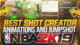 *NEW* BEST SHOT CREATOR ANIMATIONS IN NBA 2K19! BEST JUMPSHOT FOR SHOT CREATORS NBA 2K19!
