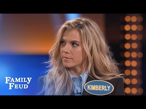 The Band Perry's Kimberly KILLS on Fast Money | Celebrity Family Feud | OUTTAKE