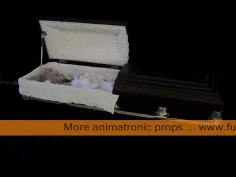 Halloween Coffins, Ghosts, and Ghouls Animatronic Props