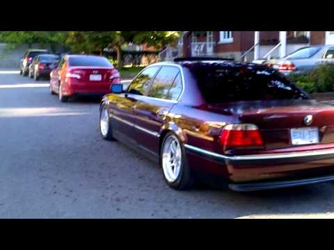 Mint BMW E38 / 740i 1998 Lowered on ST coilovers