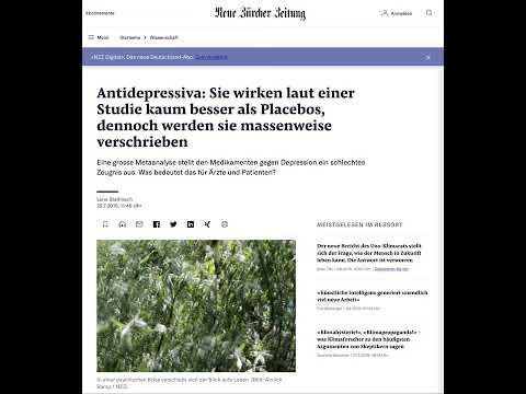 Antidepressiva: Sie wirken laut einer Studie kaum besser als Placebos, dennoch werden sie