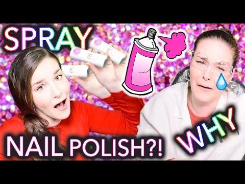 Spray Paint Nail Polish?! WHY just why