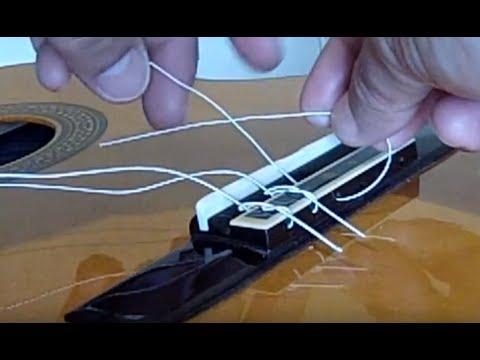 Πώς αλλάζω χορδές στην κιθάρα How To Change Strings On A Classical Guitar Easy