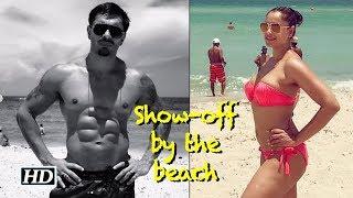 Bipasha-Karan show-off by the beach