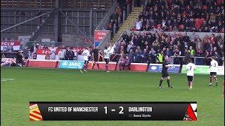 FC United of Manchester 1-2 Darlington - Vanarama National League North - 2017/18