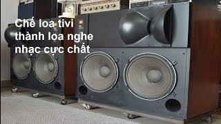 Chế loa Tivi nghe nhạc phòng trà, phòng ngủ, hôm nay mình xin giới thiệu sản phẩm của mình