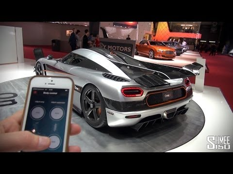 Koenigsegg One:1 Wing and Suspension Control from iPhone App