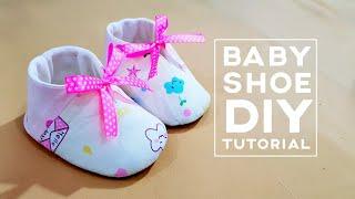 How to make a lovely baby shoe | Baby shoe diy tutorial | 粉嫩的婴儿鞋,太可爱了吧!!!马上动手做!!! ❤❤
