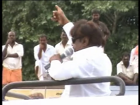 actor  VIJAYAKANTH super comedy in ELECTION meeting.mpg