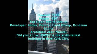 UPDATE! NEW YORK | 53W53 (Tower Verre) | 1,050 FT / 320 M | 82 FLOORS October 2017