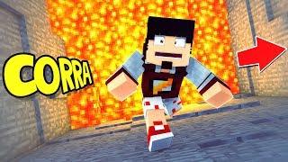 Minecraft: CORRA DA LAVA OU ELA TE PEGA ‹ AMENIC ›