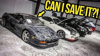 My Cheap Ferrari Finally Comes Home!! (And BIG SHOP NEWS!) - GARAGE UPDATE