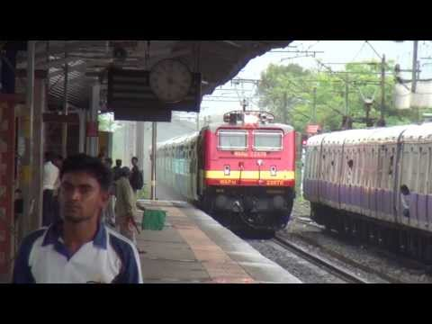 Very Rare - Freshly Poh'ed Brc Wap-4e# 22678 Mayur Led Ddr Bkn Exp Overtaking An Emu !!! video