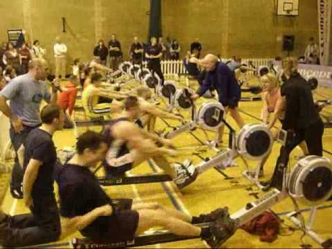 Rob Smith 500m indoor rowing World Record 2008 Video