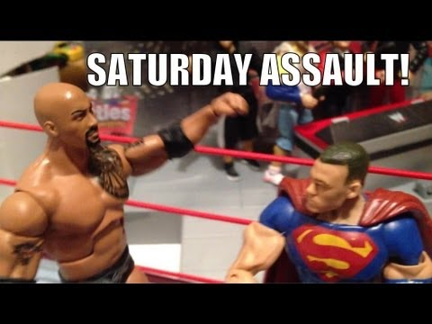GTS WRESTLING: Fail Whale Challenge WWE parody action figure matches toy animation video