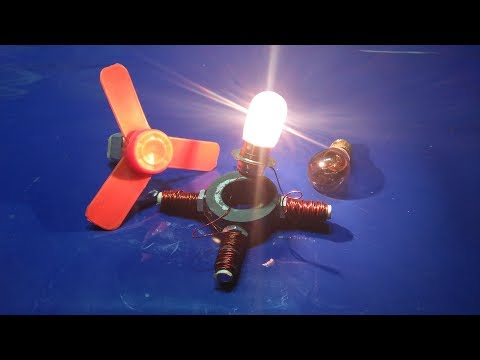 how to make free energy generator at home with magnet new technology thumbnail