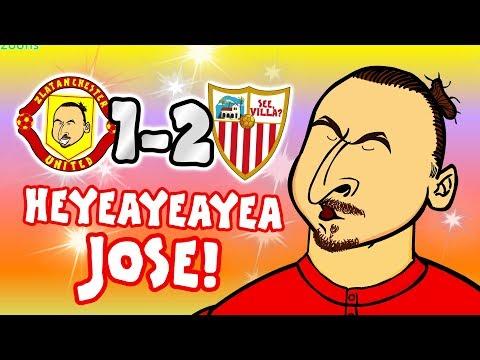 🤣HEYEAYEAYEA JOSE! What's going on?🤣 (Man Utd vs Sevilla 1-2 Song Parody Goals Highlights)
