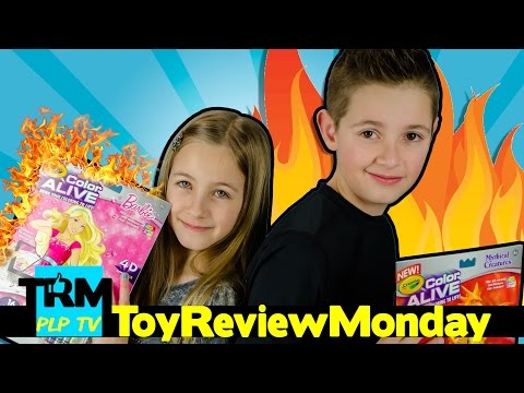 CRAYOLA Color Alive MY BARBIE IS ON FIRE! + Dragons   Toy Review Monday by PLP