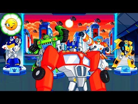 Transformers Rescue Bots #4 Команда Ботов Спасателей наперегонки со снежной и песчаной бурей!