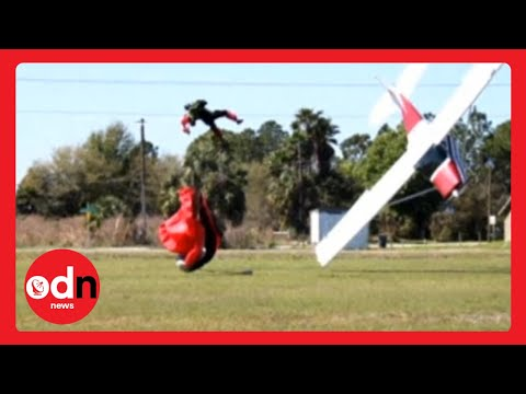 Skydiver vs plane: Florida collision captured in dramatic pictures