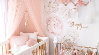 BABY NURSERY REVEAL! ~ [ Baby Girls Room Tour ] ~ Nursery Inspiration