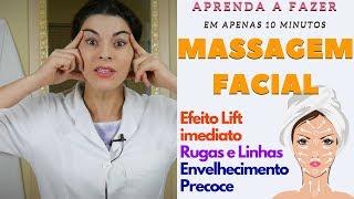 MASSAGEM FACIAL para LIFT imediato, tratar Rugas, Linhas e Envelhecimento Precoce