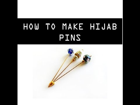 HOW TO MAKE HIJAB PINS AT HOME - DIY HIJAB PINS - MUSKA JAHAN