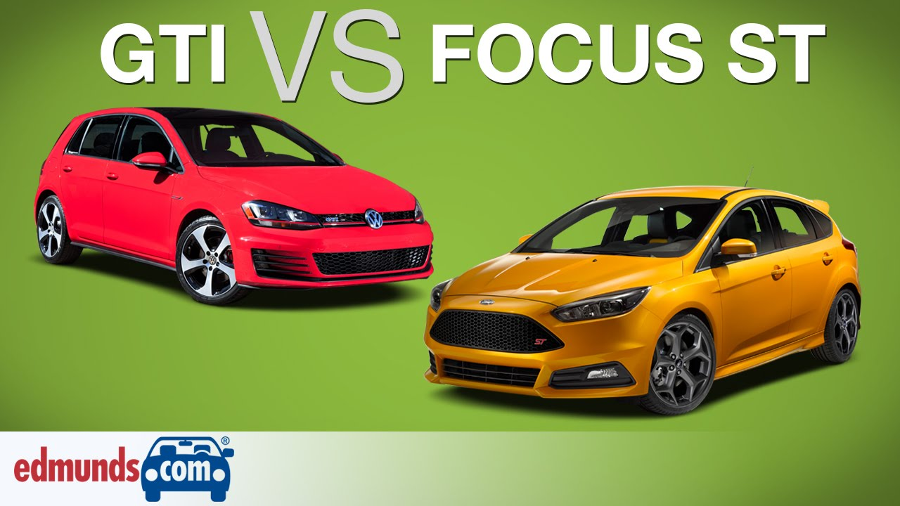 Golf R Vs Gti >> VW Golf GTI vs Ford Focus ST | Which Hot Hatch is Best? - YouTube