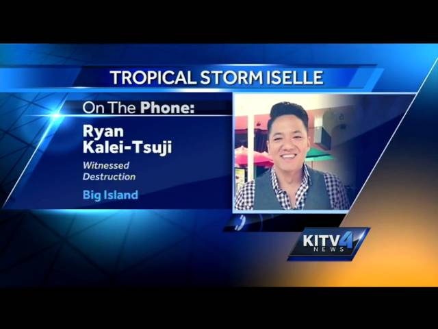Viewers share shots of storm damage on the Big Island