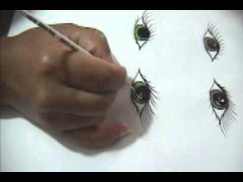 Seminario para pintar ojos parte 8 16 youtube - Maneras de pintar los ojos ...