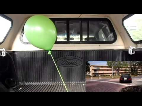 What happens to a helium filled balloon in a car?