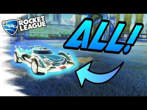 Rocket League Trading - ALL PAINTED CENTIO V17s Showcase! - Overdrive Crate Items (White, Crimson)