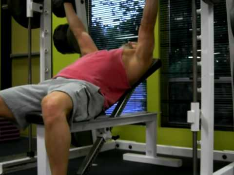 Incline Bench Press Machine Youtube Low Incline Bench Press on The