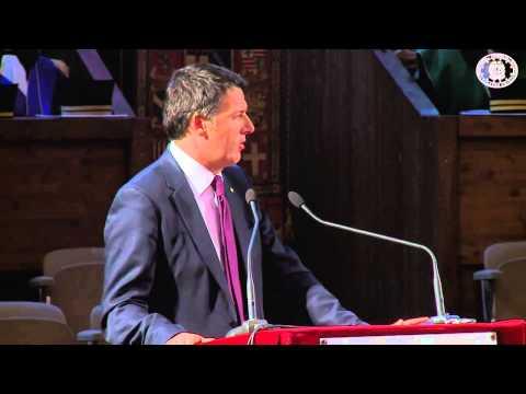 Intervento del Presidente del Consiglio, Matteo Renzi presso l'Università Bologna
