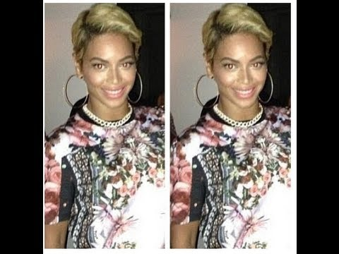 """Beyonce Sexy Short Blonde Pixie Haircut Hairstyle"" Big Chop on Twitter 2013:Real or Wig?"