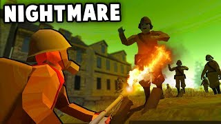 Absolute NIGHTMARE! Zombie Invasion vs Evacuated Village Fort! (Ravenfield Best Mods)