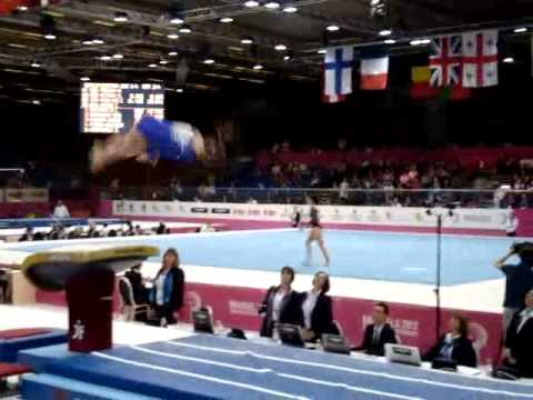 Maria PASEKA RUS Senior Qualification, European Gymnastics Championships 2012 Vault 2