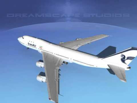 Dreamscape 747-100 Jumbo Jet Iran Air 3D model from CGTrader.com