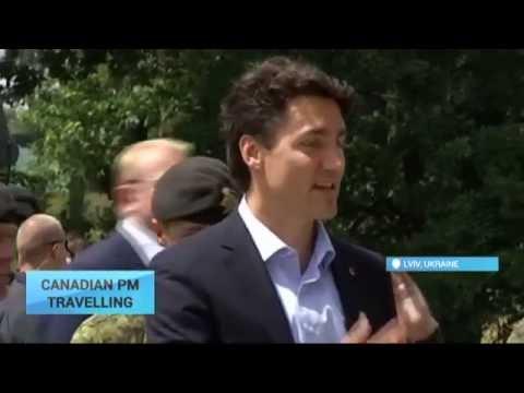 Canada PM Visits Ukraine Training Ground: Trudeau watches Canadian coaches teach Ukraine troops