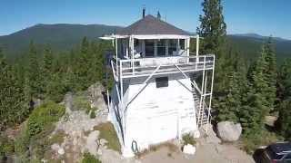 Calpine Fire lookout extended aerial video