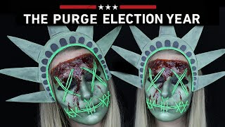 The Purge Lady Liberty Halloween Makeup Tutorial | THE PURGE MINI SERIES