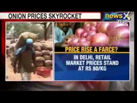 News X: Onion prices hit record high at Rs 80/kg