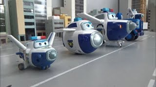 Super Wings Police Airplane Robot Toys Transformation 슈퍼윙스 경찰 비행기 로봇 장난감 변신