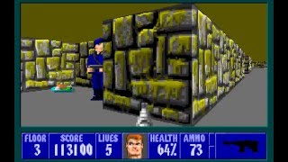 Let's Play Wolfenstein 3D 08: Zombies Everywhere