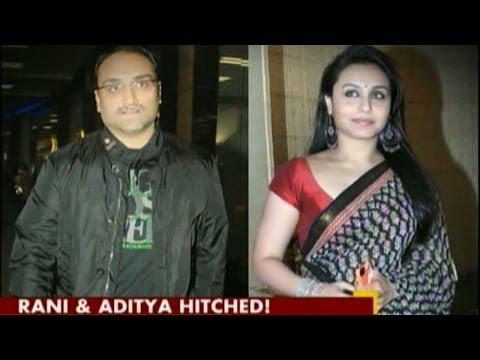 Rani Mukerji and Aditya Chopra tie the knot