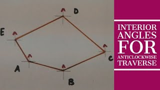 Calculation of Interior Angles of Anticlockwise Traverse