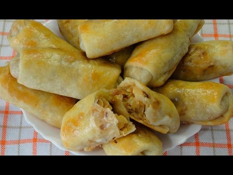 Молдавские пирожки с капустой в духовке (вэрзэре). Очень просто, быстро и вкусно