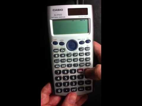 Casio fx-115ES Basics