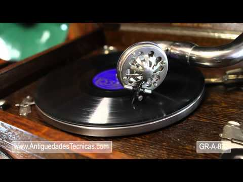 Stylish HMV Table Top Gramophone In Working Order. England, Circa 1930
